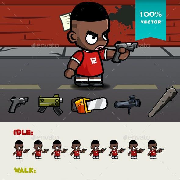 Soccer Boy Spritesheet