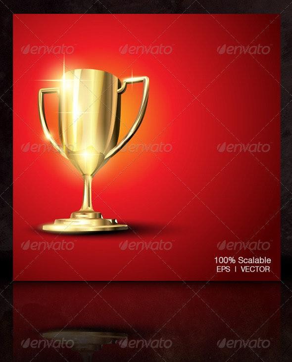 Vector Golden Trophy - Miscellaneous Vectors