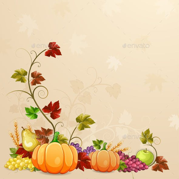 Autumn Illustration for Thanksgiving Day