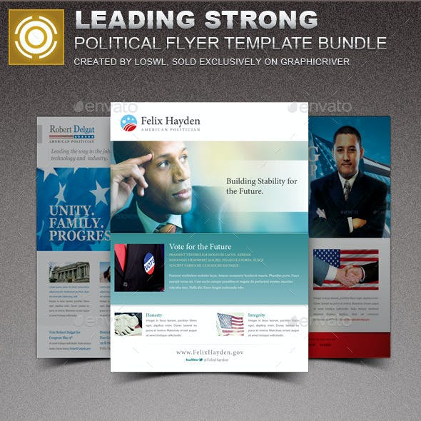 Leading Strong Political Flyer Template Bundle