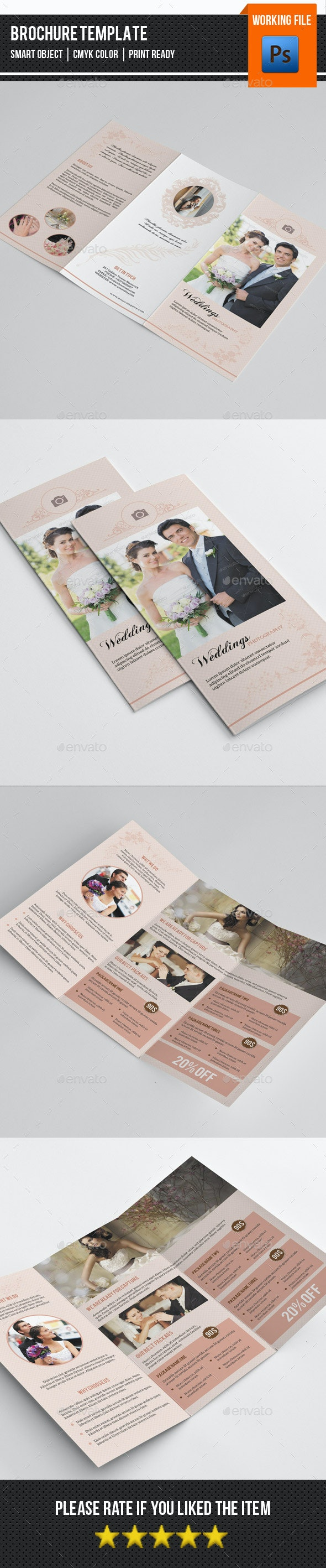 Trifold Brochure for Wedding Photography-V245 - Corporate Brochures