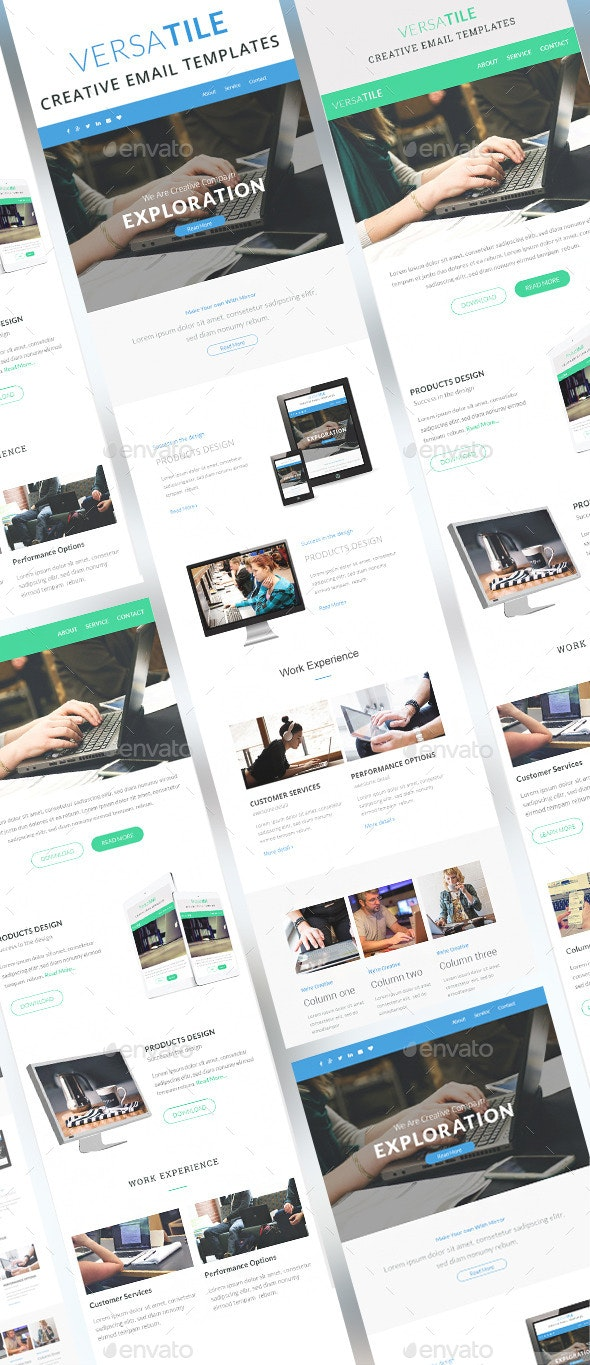 Versatile - Email Newsletter Template - E-newsletters Web Elements
