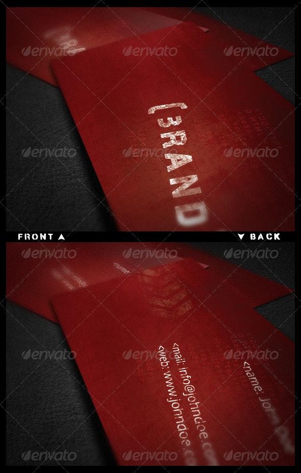 Urban Vision Business Card V2 - Grunge Business Cards
