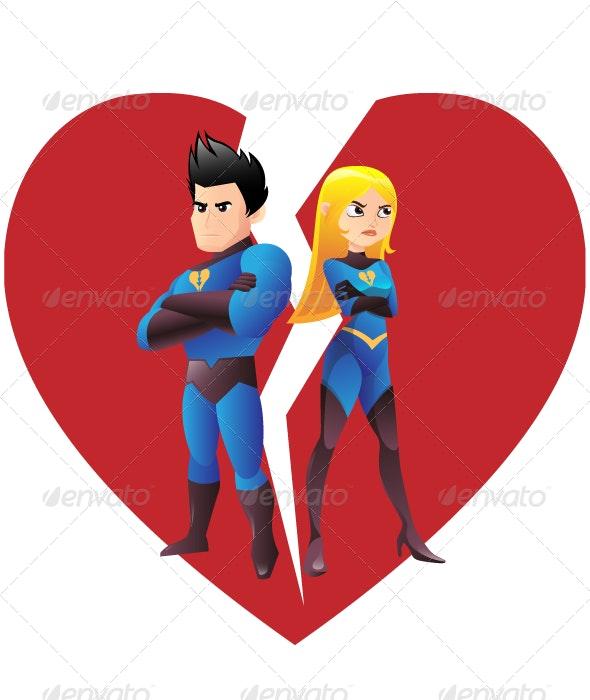 Love Quarrel Super Heroes - People Characters