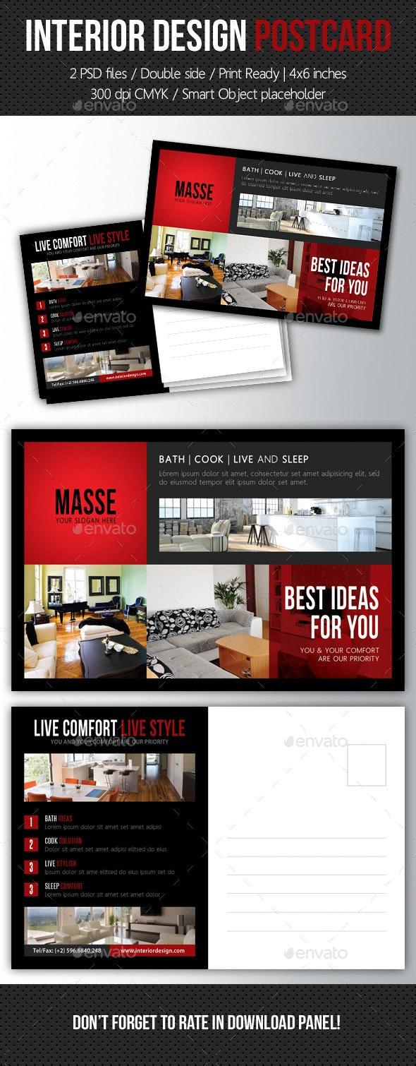 Interior Design Postcard Template V06