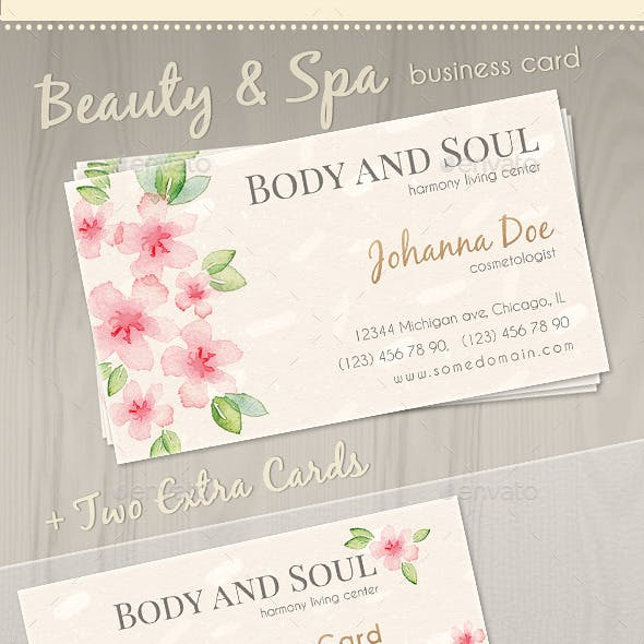 Wellness, Beauty and Spa Business Card