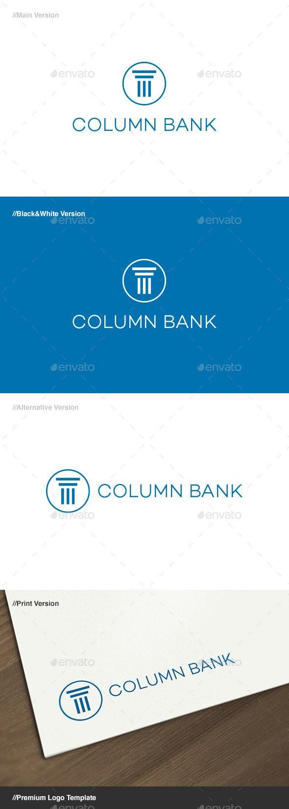 Column Bank Logo - Buildings Logo Templates