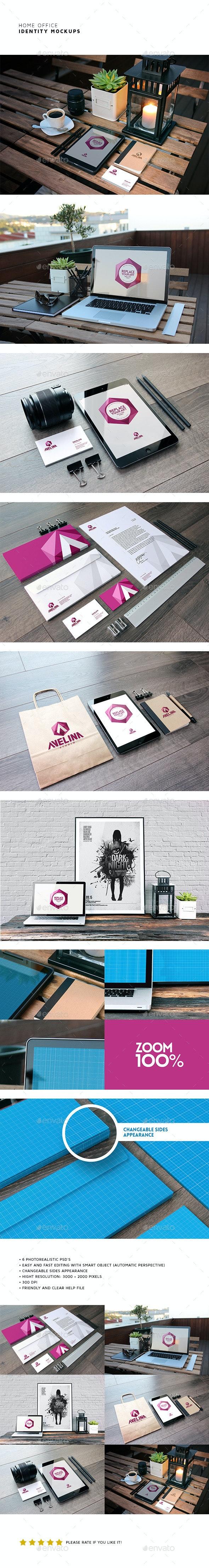 Home Office Identity Mockups - Stationery Print