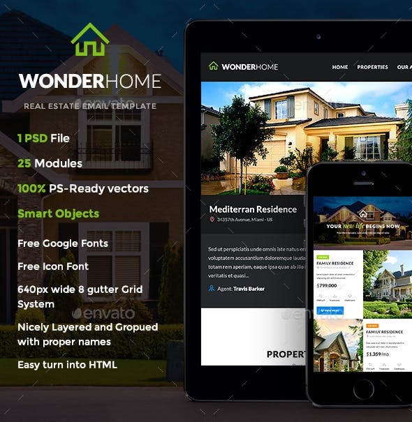 Wonderhome Real Estate E Newsletter Template