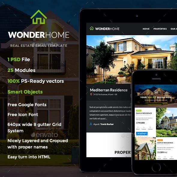 WonderHome - Real Estate E-newsletter Template