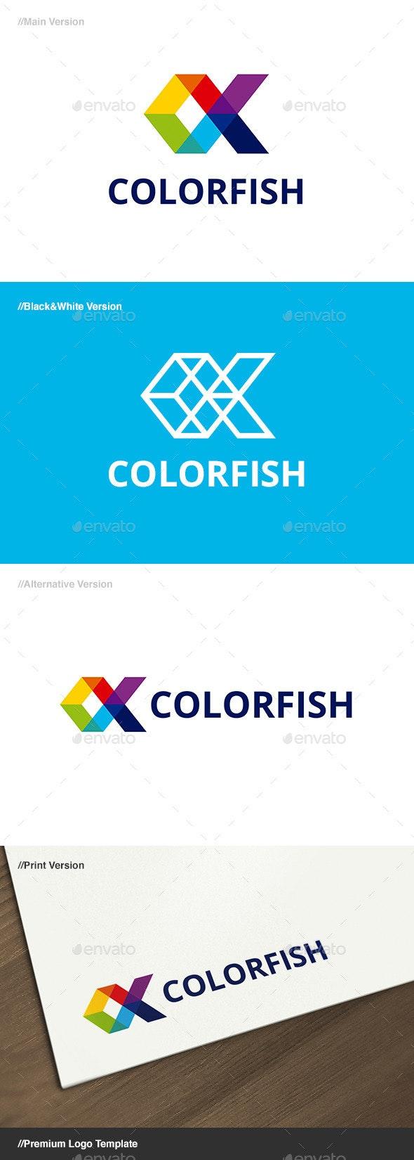 Color Fish Logo - Animals Logo Templates