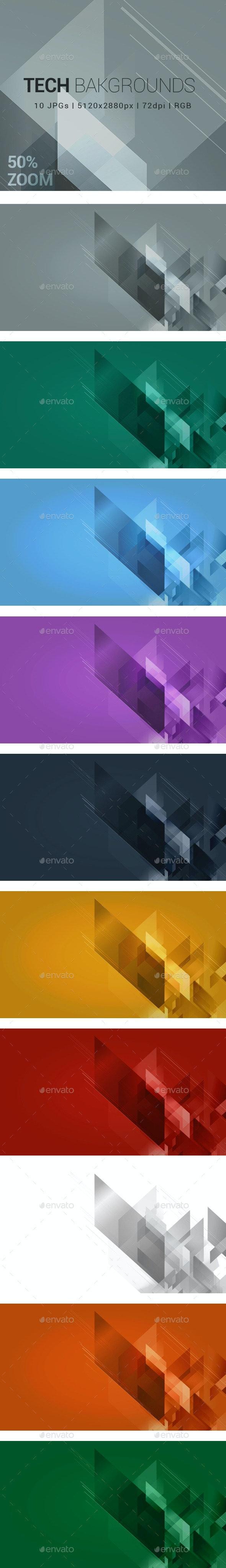 10 Tech Backgrounds - Tech / Futuristic Backgrounds