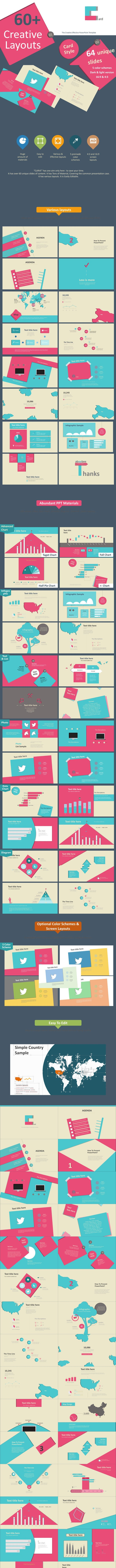 Card Creative Layouts PowerPoint Template - Creative PowerPoint Templates