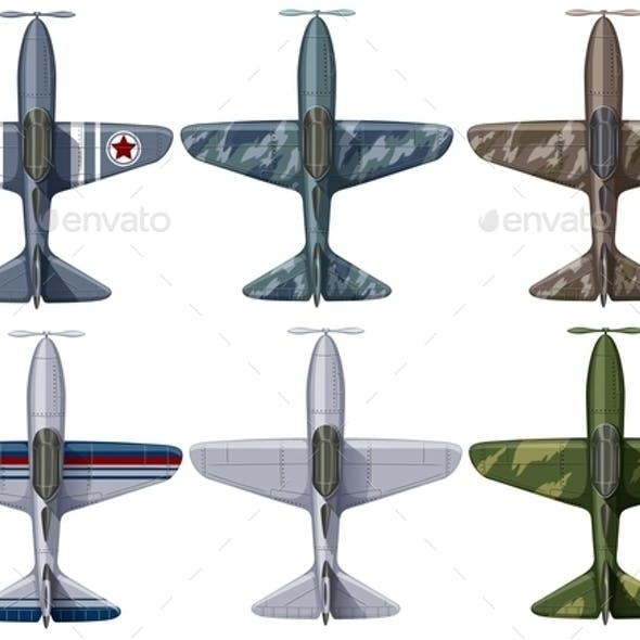 Different Design of Fighting Planes