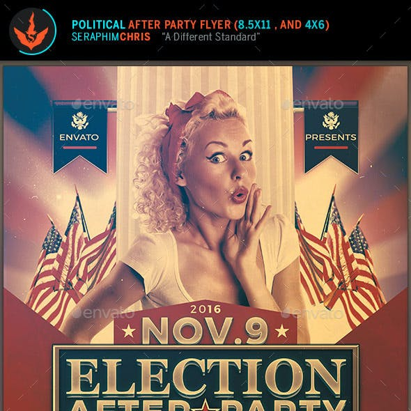 Election After Party Event Flyer Template