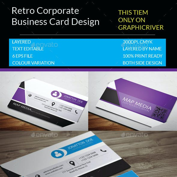 Retro Corporate Business Card.13