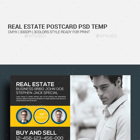Real Estate Postcard Psd Template