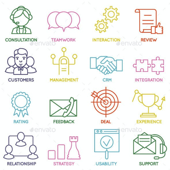 Customer Relationship Management Icons