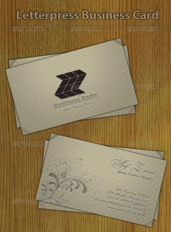 Letterpress Business Card - Creative Business Cards