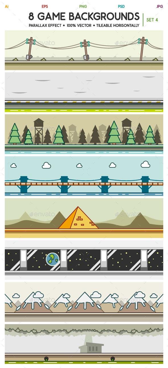 8 Game Backgrounds Set 4