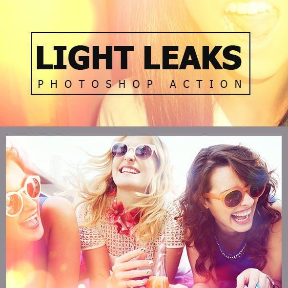 Light Leaks Photoshop Action