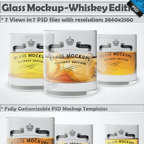 Glass Mockup - Whiskey Glass Mockup Edition Vol 7
