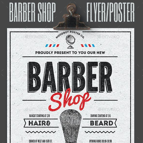 Barber Shop Vintage Flyer/Poster