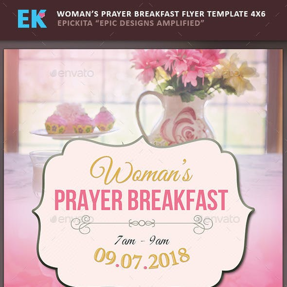 Woman's Prayer Breakfast Flyer Template