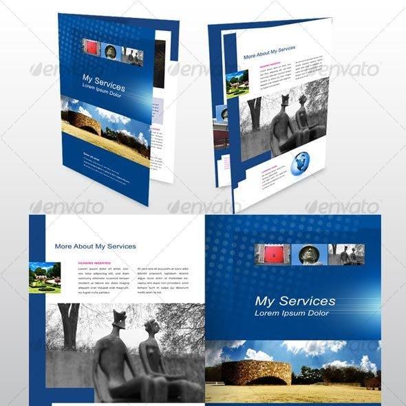 4 page A4 Brochure, Modern, Design, Architecture