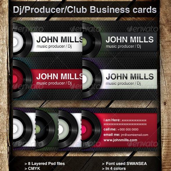 DJ / Producer/ Club Business cards
