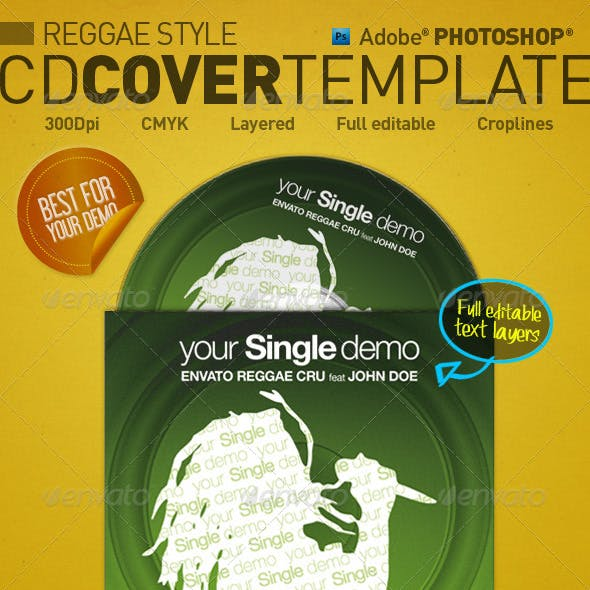 Reggae Style - CD Cover Template