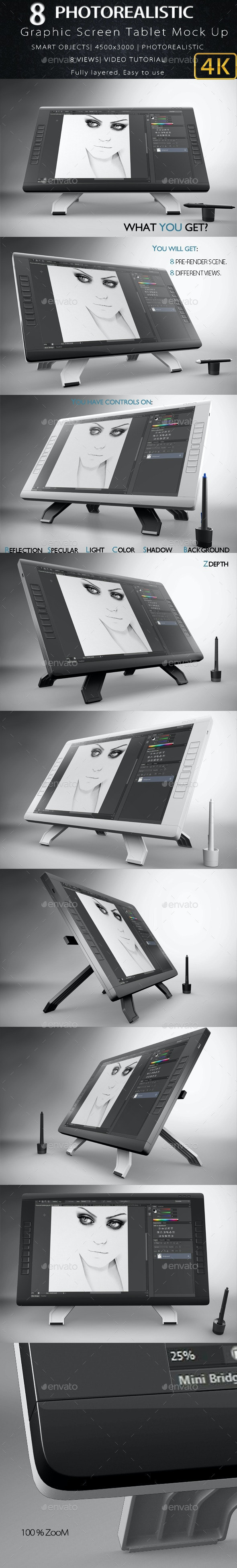Graphic Screen Tablet Mock Up - Miscellaneous Displays