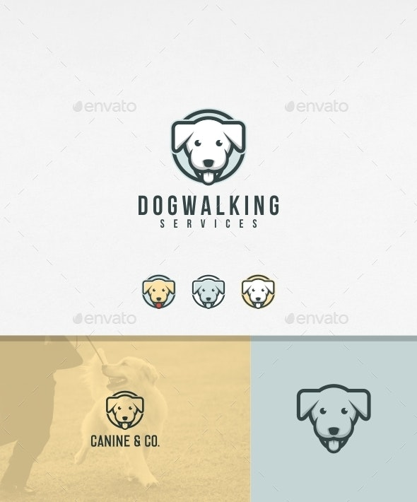 Dog Walking Logo Template - Animals Logo Templates