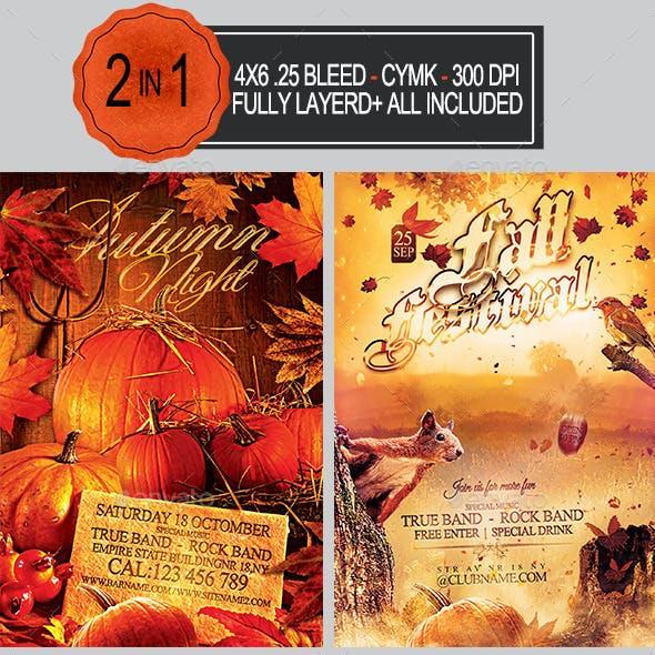 Autumn Flyer Bundle