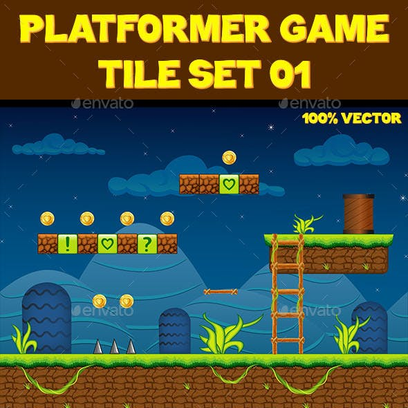 Platform Game Tile Set 01