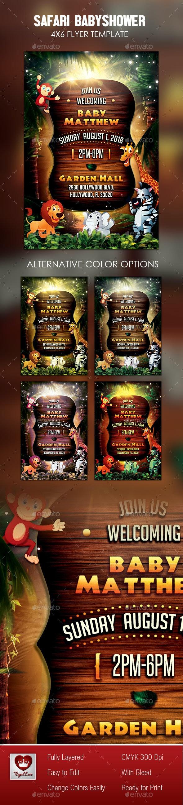 Safari Baby Shower Invitation - Invitations Cards & Invites