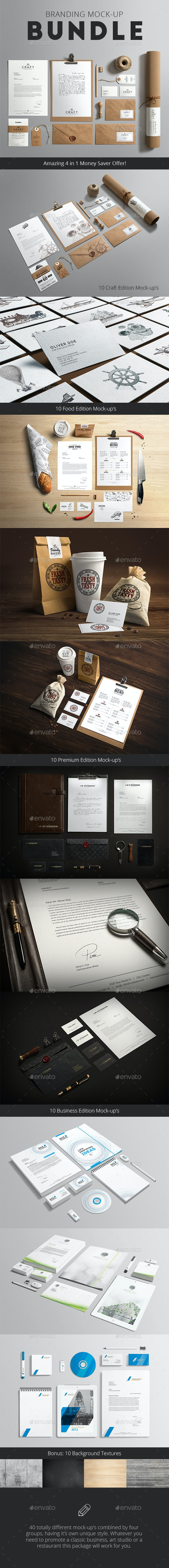 Stationery / Branding Mock-Up Bundle - Stationery Print