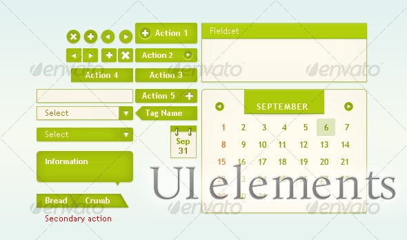 UI elements for web interface - User Interfaces Web Elements