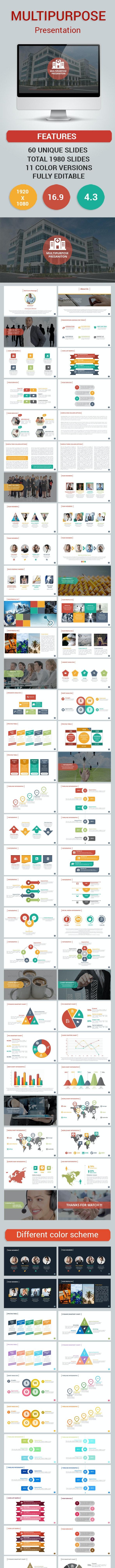 Multipurpose powerpoint presention - PowerPoint Templates Presentation Templates