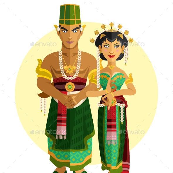 Indonesian Central Java Wedding Ceremony