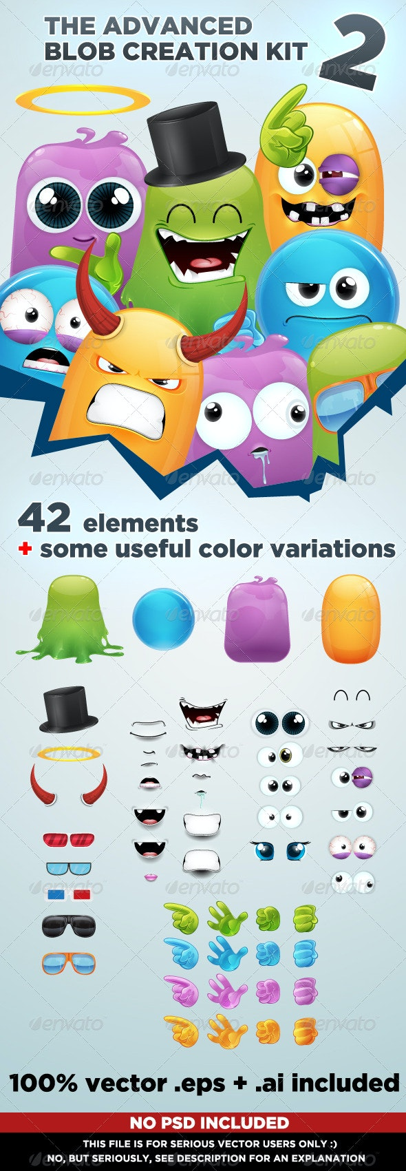Advanced Blob Creation Kit 2 - Characters Vectors