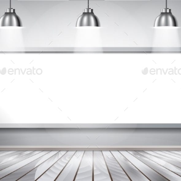White Brick Show Room with Spotlights