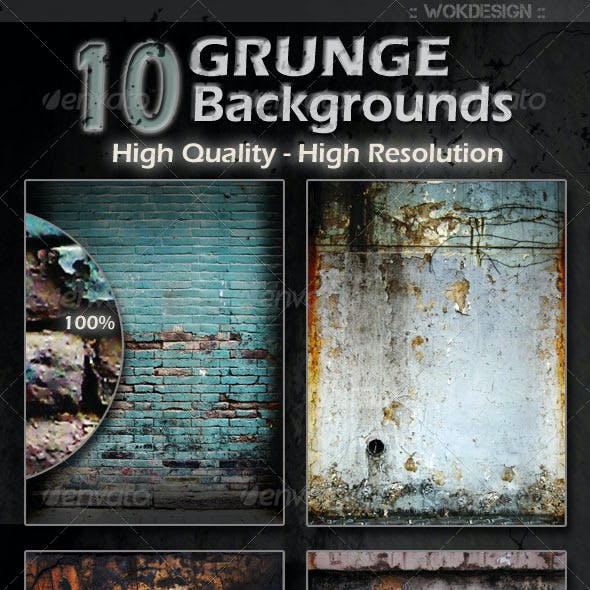 10 Grunge Backgrounds