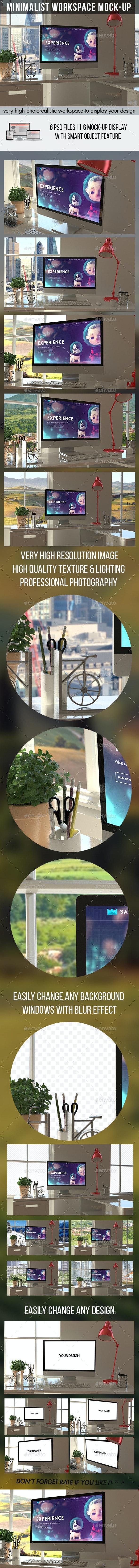 Minimalist Workspace Mockups - Displays Product Mock-Ups