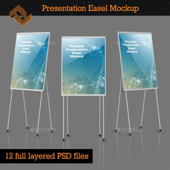Portable Presentation Easels Mockup