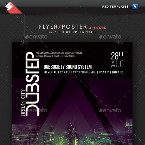 Urban City Dubstep - Party Flyer Template