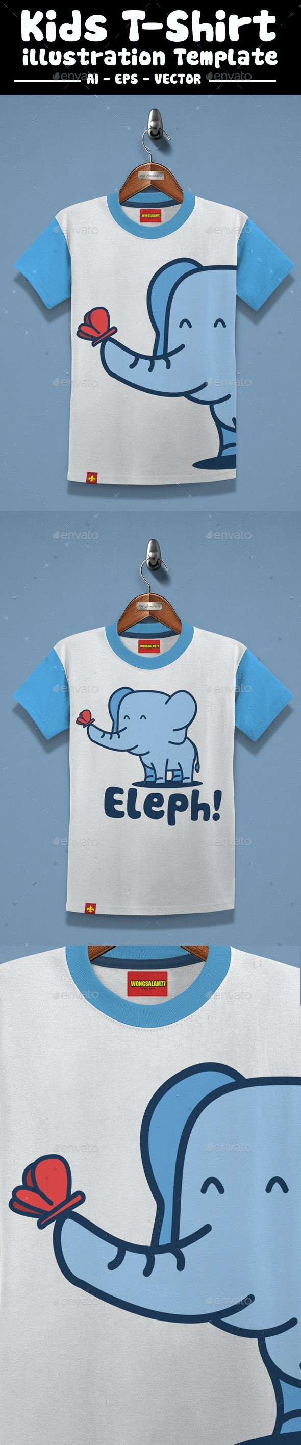 Elephant Kids T-Shirt Design