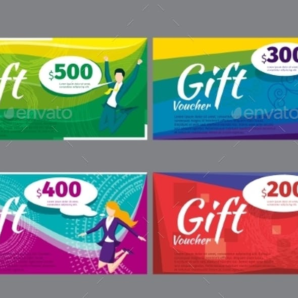 Gift Voucher Certificate Or Coupon Template