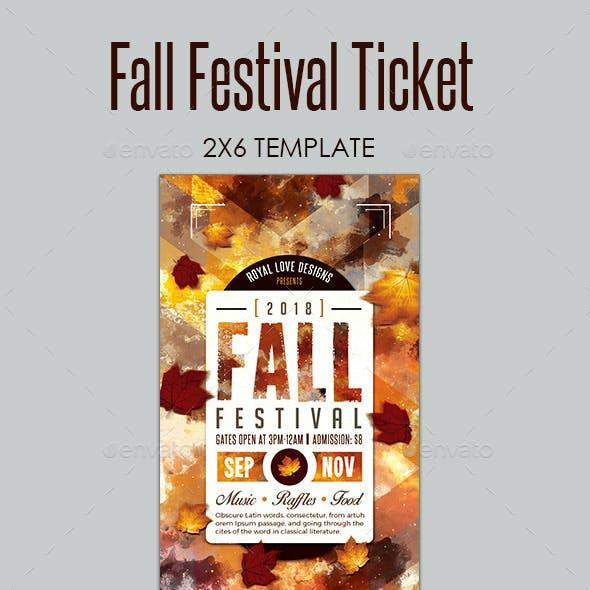 Fall Festival Ticket