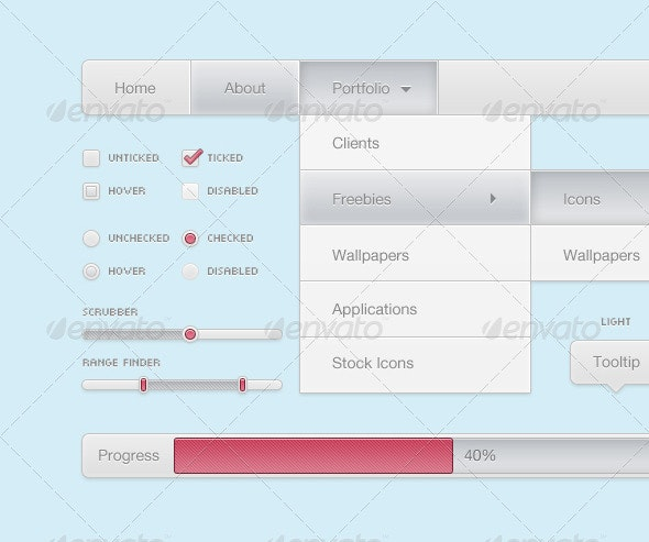 Menu Bar - Miscellaneous Web Elements